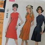 Retro 1960s dressmaking pattern - McCalls Fleetway pattern no. 9335 - Misses Dress in 3 versions